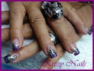 Best Nails - titanium con royal gel y brilliante