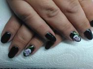Best Nails - royal black with one move