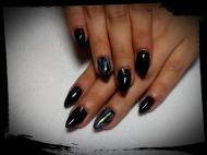 Best Nails - fekete üvegfóliával