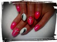 Best Nails - neon pink tollalal