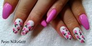 Best Nails - csajos virágos