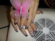 Best Nails - fekete fehér ezüst