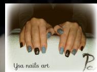 Best Nails - Szürke fekete körömnyomdával