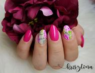 gel nails with nailart