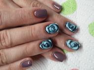 Best Nails - Kék rózsa