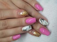 Best Nails - Arany és márvány
