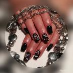 fekete konfettis