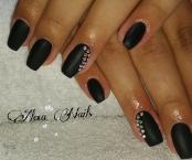 Black matt nails