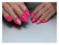 Neon pink transzferfóliával