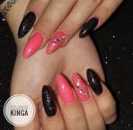 Neon pink és fekete