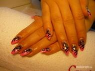 Best Nails - Pink hálós műköröm
