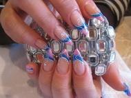 Best Nails - Kék Rózsaszín