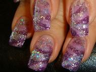 Best Nails - lila márvány variáció