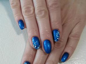 Selyemfényű kék