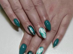 Zöld márvány minta