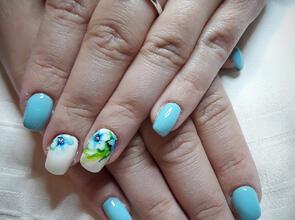 kék virágok