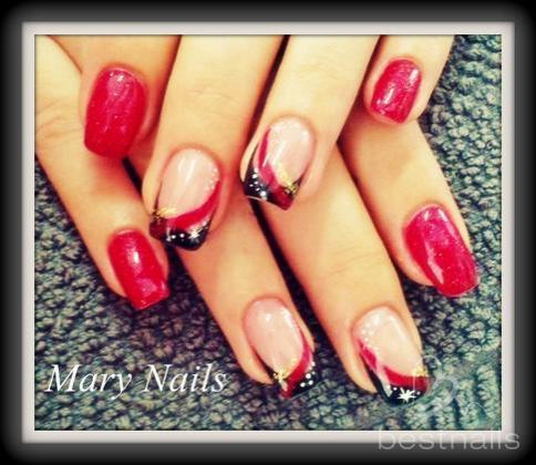 Fotos de manicuras Maria Vlad decoraciones en gel Uas de Gel