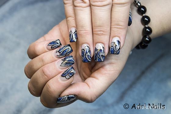 Adri Nails - silver blue - 2015-04-25 05:43