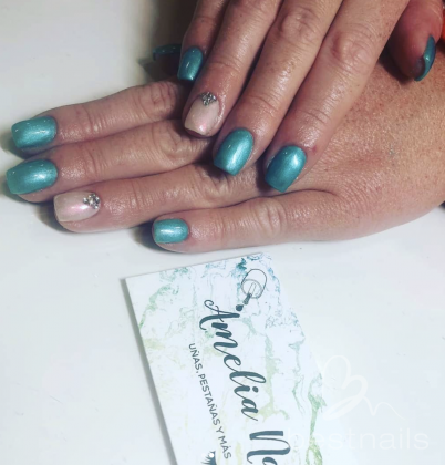 AmeliaNails - Azul turquesa - 2019-06-06 12:28