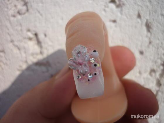 M. Eszter - Épített zselé 3D porci virággal - 2011-04-01 11:17