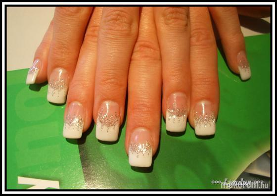 Máté Melinda - fehér francia ezüst csillámmal - 2011-06-29 22:02