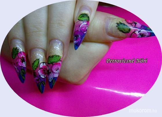 Petrovicsné  Nóri - színes virágos hegyes - 2011-09-30 17:10