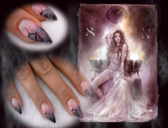 Györené Csertán Gyöngyi - Pink Cadillac Professional Nails Körömszalon - Purple nails - 2014-12-13 21:12