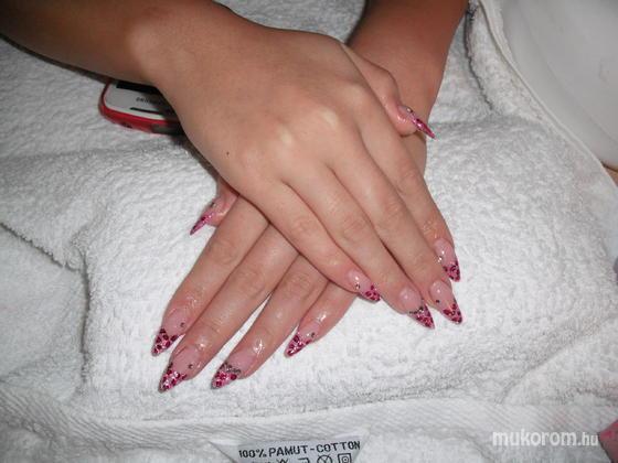 Baglyas Rita - Rózsaszín csillámos zselével akrillal - 2012-01-01 16:40