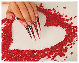 ¿Cuál es nombre de del paquete que lanzó la marca Crystal Nails para San Valentín?
