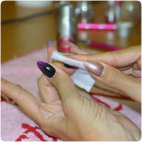Best Nails - Cleanse the nail with Cleanser.